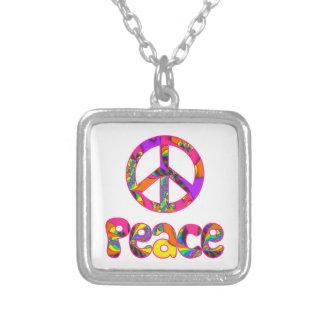 Peace Sign Fractal Color Me Bright Necklace