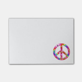 Peace Sign Fractal Groovy Trip Post-it Notes