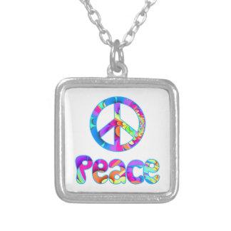 Peace Sign Fractal Necklace