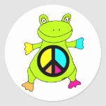 Peace Sign Frog Stickers