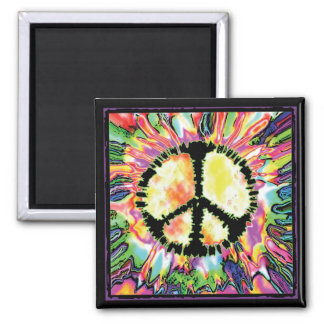 Peace Sign Gear by Mudge Studios 2 Inch Square Magnet