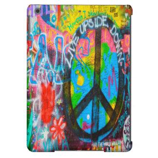 Peace Sign Graffiti Wall iPad Air Cases