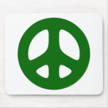 Peace Sign Green Mouse Pad