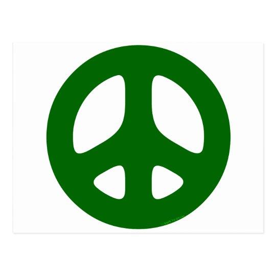 Peace Sign Green Postcard