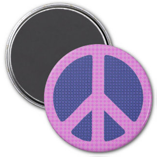 Peace Sign Groovy 3 Inch Round Magnet
