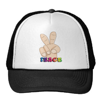 peace_sign_hand trucker hat