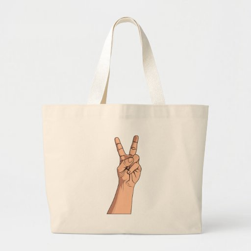 Peace Sign ~ Hand Signs Gestures V For Victory 2 Bag