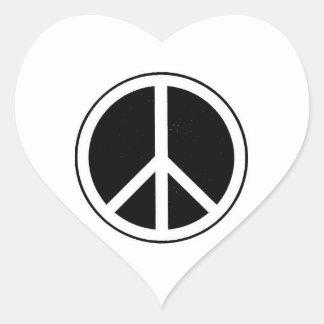 Peace Sign Heart Sticker