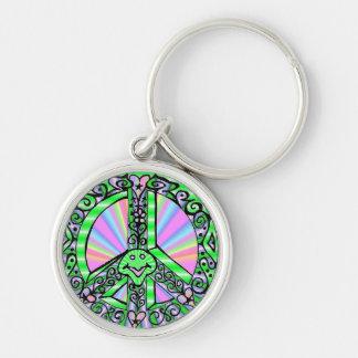 Peace Sign heavy duty keychain