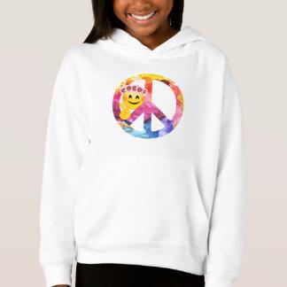 peace+sign,hippie,70's,seventies,vintage,retro,woo hoodie