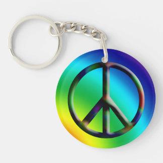 Peace Sign Hippie Keychain