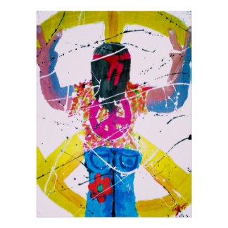 Peace Sign Hippie Poster