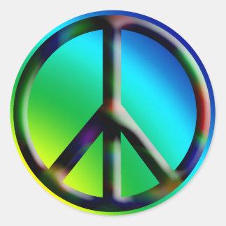 Peace Sign Hippie Sticker