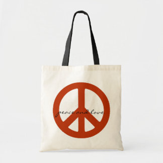 peace sign, hippies retro tote bag