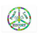 Peace Sign History Postcard