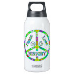 Peace Sign History 10 Oz Insulated SIGG Thermos Water Bottle