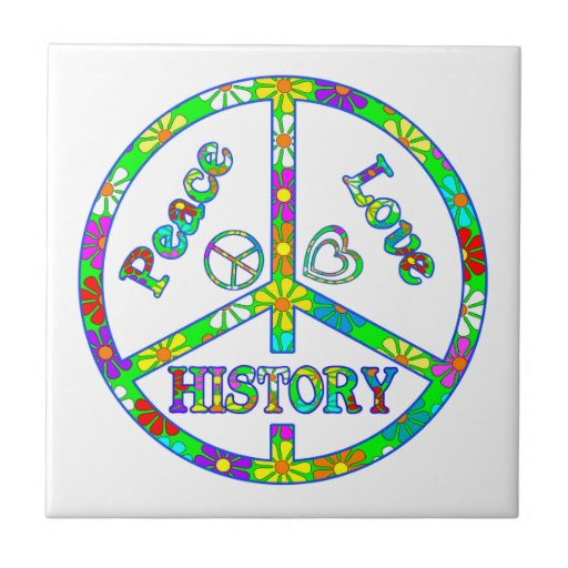 Peace Sign History Tile
