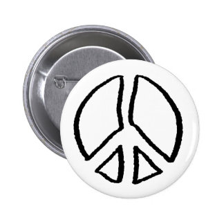 Peace Sign Hollow 2 Inch Round Button