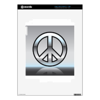 Peace sign illustration Metallic Decal For iPad 2