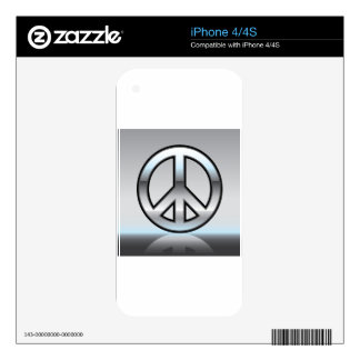 Peace sign illustration Metallic Skin For The iPhone 4