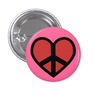 Peace Sign in a Heart Button