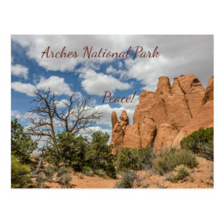 Peace Sign in Arches National Park Postcard