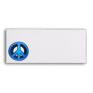 Peace sign in blue envelope