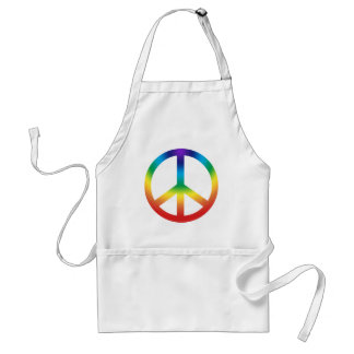 Peace Sign in Chakra Colors Adult Apron