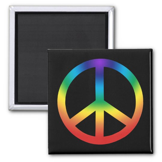 Peace Sign in Chakra Colors Magnet