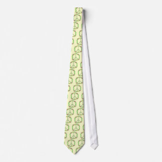 Peace Sign in Flowers Tie