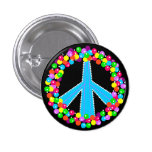 Peace Sign in Gumballs 1 Inch Round Button