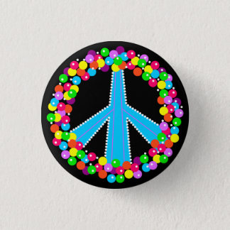 Peace Sign in Gumballs Pinback Button