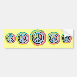 Peace Sign in Pastel Colors Bumper Sticker