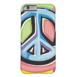 Peace Sign in Pastel Colors Barely There iPhone 6 Case