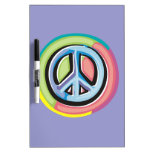 Peace Sign in Pastel Colors Dry-Erase Boards