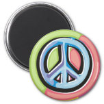 Peace Sign in Pastel Colors Fridge Magnet
