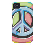 Peace Sign in Pastel Colors iPhone 4 Case
