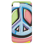 Peace Sign in Pastel Colors iPhone 5 Cases