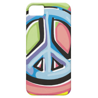 Peace Sign in Pastel Colors iPhone SE/5/5s Case