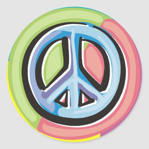 Peace Sign in Pastel Colors Sticker