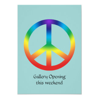 Peace Sign in Rainbow colors Card