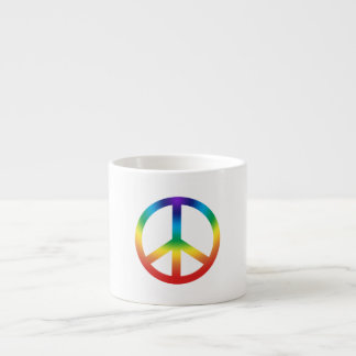 Peace Sign in Rainbow colors Espresso Cup