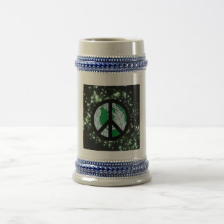 Peace Sign In Space Mugs