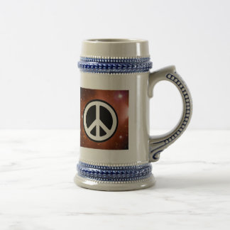 PEACE SIGN IN SPACE COFFEE MUG