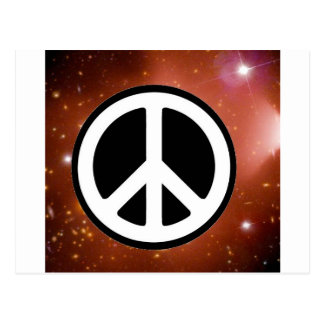 PEACE SIGN IN SPACE POSTCARD