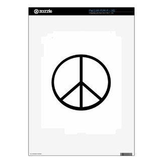 Peace sign iPad 2 skins