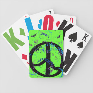 Peace Sign Jumbo Cards Bicycle Poker Deck