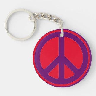 peace sign keychain