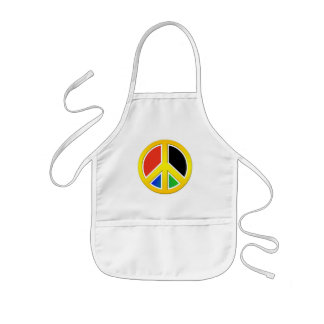 Peace sign kids' apron