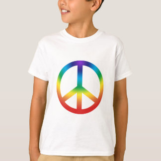 Peace Sign kids tee Chakra Colors